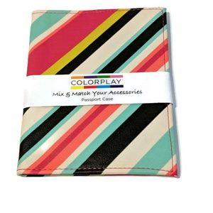 Colorplay Passport Case Vertical Stripes